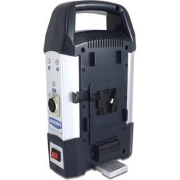 Blueshape dual v-mount charger   Contrast Cine - Nashville Video Camera Battery Rentals