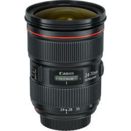 Canon EF 24-70mm f2-8L II IS Lens | Contrast Cine - Nashville Film & Video Camera Lens Rental