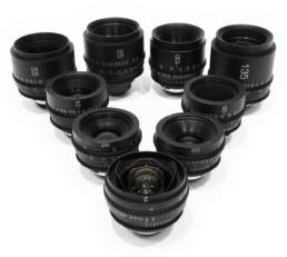 Rehoused Canon FD Super Speeds: 14mm T2.9, 20mm T2.9, 24mm T1.5, 28mm T2.1, 35mm T2.1, 55mm T1.3, 85mm T1.3, 100mm T2.1, 135mm T2.1 | Contrast Cine - Nashville Film & Video Camera Lens Rental