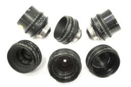 P+S Cooke Speed Panchros: 18mm T2.2, 25mm T2.2, 32mm T2.4, 40mm T2.3, 50mm T2.3, 75mm T2.3 | Contrast Cine - Nashville Film & Video Camera Lens Rental
