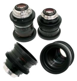 Lomo Vintage Super Speeds: 18mm T3.0, 28mm T1.2, 35mm T1.5, 50mm T1.2, 75mm T1.5 | Contrast Cine - Nashville Film & Video Camera Lens Rental