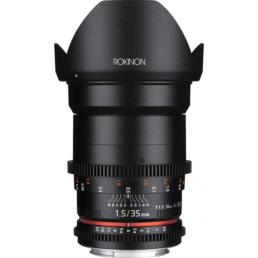 Rokinon 35mm T1.5 EF Mount Cine Lens | Contrast Cine - Nashville Film & Video Camera Lens Rental