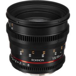 Rokinon 50mm T1.5 EF Mount Cine Lens | Contrast Cine - Nashville Film & Video Camera Lens Rental