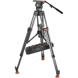 Sachtler 20 Carbon Fiber Quick Release Tripod | Contrast Cine - Nashville Video Camera Support Equipment