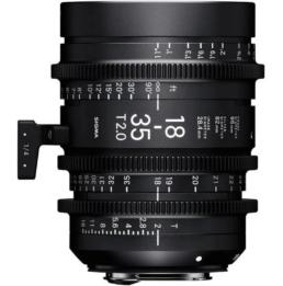 Sigma 18-35 T2 Cinema Zoom Lens | Contrast Cine - Nashville Film & Video Camera Lens Rental