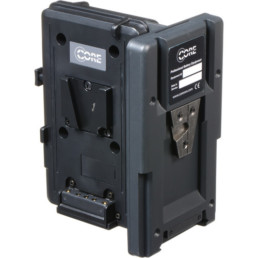 Switronix V-Mount Hot Swap Shark Fin   Contrast Cine - Nashville Video Camera Battery Rentals