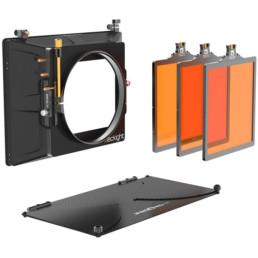 Bright Tangerine 6x6 Blacklight Matte Box | Contrast Cine - Nashville Video Equipment Accessory Rentals