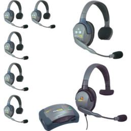Eartec UltraLITE 7 Headset Intercom System | Contrast Cine - Nashville Video Equipment Accessory Rentals
