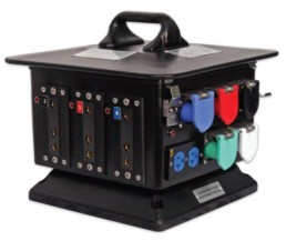 200A 125V Camlok to Stage Pin Distro Box   Contrast Cine - Nashville Video Camera Battery Rentals