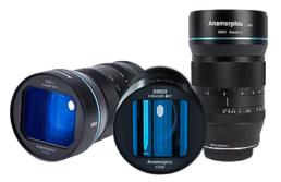 Sirui 24mm, 35mm, 50mm f1.8 1.33x Anamorphic MFT Lenses | Contrast Cine - Nashville Film & Video Camera Lens Rental