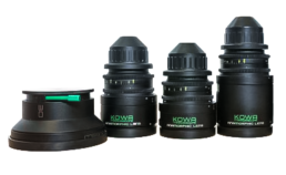 Kowa Mirrorscope 2X Anamorphic Lenses: 40mm T2.3, 50mm T2.3, 75mm 2.8, 30mm Wide-Angle Adapter | Contrast Cine - Nashville Film & Video Camera Lens Rental